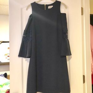 Eliza J Navy Cold Shoulder Dress